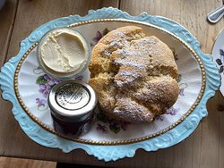Gluten-free fruit scone.