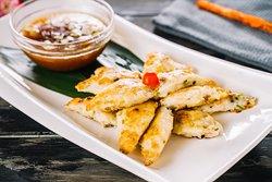 Pan Fried Tofu stuffed w.Grounded Shrimp