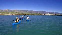 taking in the beauty of Santa Barbara's coastline on a kayak rental!