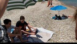 All rock beach