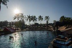 Main pool, slide for kids on the left