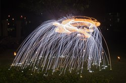 Fire show in the evening