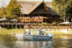Departures from the David Livingstone Safari Lodge and Spa jetty.