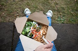 Not just burritos. Healthy rice boxes, salads and tacos are available to eat in and takeaway.