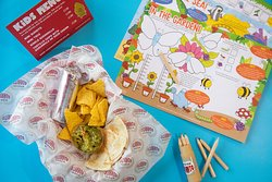 All the family are welcome. Kids menu includes mini burritos, mini tacos and quesadillas from just £1 per item.