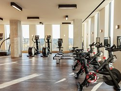 State-of-the-art fitness equipment in our 24-hour fitness center with Peloton bikes that can also be delivered to your guest room (upon request).