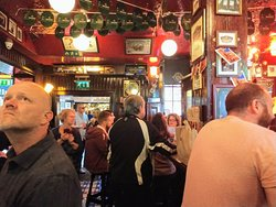 Inside the Temple Bar on Fleet Street