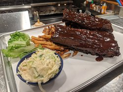 Thursday WI-FI Feature Baby Back Pork Ribs: All Natural Hormone Free / Antibiotic Free / Midwest Sourced / Fresh Cut Fries / House Slaw  Half or Full #AGAVEkitchen