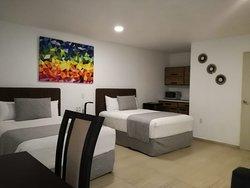 habitacion Jr. Suite ideal para familias. Jr.Suite  room Ideal  for families.