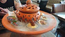 Nice afternoon thai traditional tea set at Indigo hotel