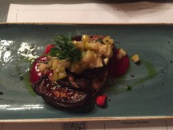 duck liver with pear - excellence in simple things.