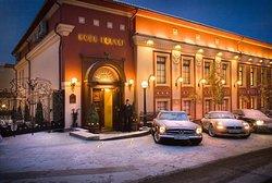 Зимняя панорама ресторана