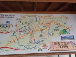 鹿教湯温泉の案内図