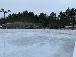 The preparation of the skating rink for our customers who book with blueberry lake resort and Georges Ata. Customers of private cottage like John P and other rental or management companies do not have access to our external and interior facilities st the clubhouse