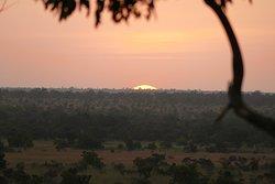 Vue sur le coucher de soleil depuis le restaurant