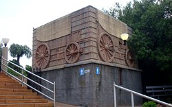 The Voortrekkers monument and museum relates to the trekkers who left Cape Colony in the 1830's and travelled North.