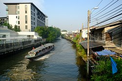 The hotel is within walking distance to this river - a slice of rural living in Bangkok.