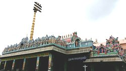 Colorful parapet of the temple