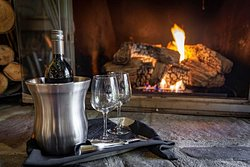We offer wine by the bottle for you to enjoy in your room or by the fire.