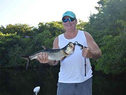 Another First Tarpon - We specialize in getting anglers their first Tarpon. Fishing is from April 1st to October 1st