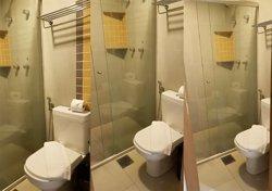 Banheiros limpos e novos