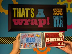 You get aprons and head covers and design your perfect candy bar (don't forget to design the cover as well!).