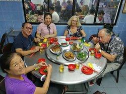 With Han Solo, Chloe, Rosanna Verdicchio & Massimo Verdicchio enjoying our dinner