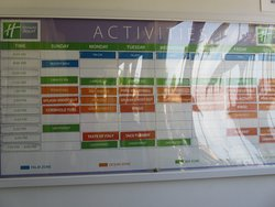 Vista de las actividades de la semana del hotel