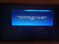 Very limited TV channel... I have captured the TV screen in this photo, it said that you have not subscribed to this channel
