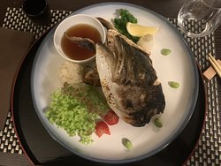 Hamachi grilled head ... marvelous!