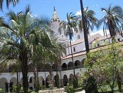 Inside the San Francisco monastery courtyard.