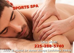 Here at Sports Spa, We are a proud Asian Spa located in Baton Rouge, Louisiana we are professional Asian massage therapists that are trained to provide all kinds of massages in one place right on West Muriel Drive! We like to say that we are the best asian massage in town! See our website for more details. You can either Book your appointment via phone call or just simply walk-in anytime where we are always ready to help!