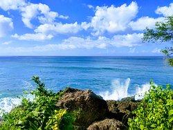 Biking to a cliff overlook