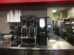 Speciality coffees machine