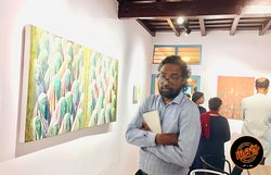 """Our ongoing art exhibit """"Idam""""..."""