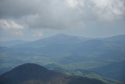 View from Tarnica, mainly to the Ukrainian side