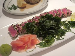 The Grill on the Alley in the Lobby of The Westin Michigan Ave, 909 N Michigan Ave, Chicago - Dinner - Pepper-seared Ahi Sashimi