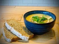Linen Hill freshly prepared soup - always a vegetarian option