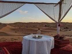 Dining setup in royal camp