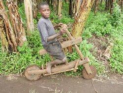 zelfgemaakte fiets Rwetreera