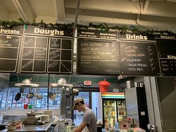 The menu is right above the main counter and changes daily.