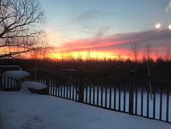Morning sun rises