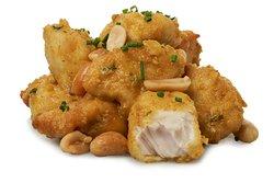Pollo Thai Suave. En salsa de curry y cacachuetes ¡Por 1€ más añade arroz bazmati!