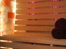 infrarood sauna met zoutstenen