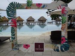 Manava Beach Resort Pool, Lagoon and Overwater Bungalows