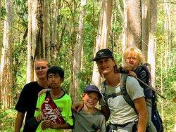 trekking at the Otainglang waterfall and community