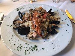 Fantastic seafood meal