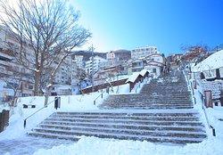 冬の石段街