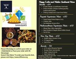 Happy Lohri and Makar Sankranti Menu