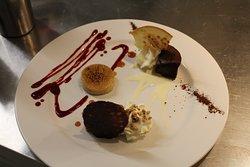coulant chocolat noir glace vanille